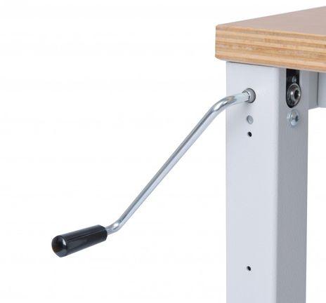 Workergo Grundtisch mit Kurbelverstellung – Bild 3