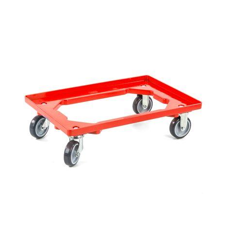 Rollwagen für Eurobehälter, rot
