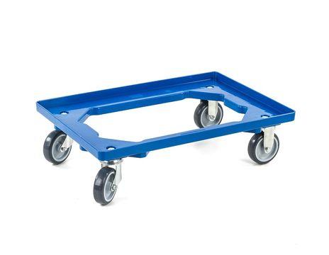 Rollwagen für Eurobehälter, blau – Bild 1