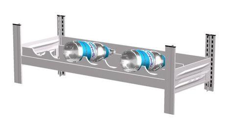 Zusatzebene für Weinflaschenregal 750 mm, Lichtgrau