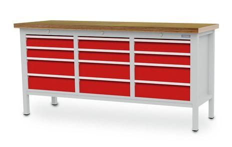 Kastenwerkbank mit 12 Schubladen, BLH 100 -150 mm – Bild 2