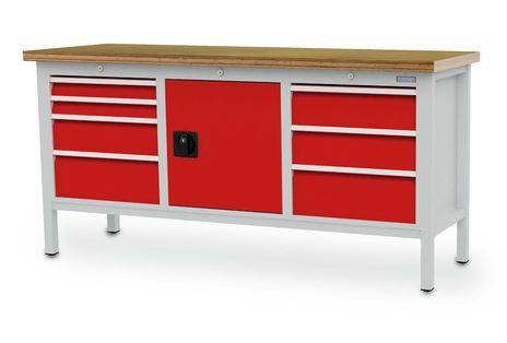 Kastenwerkbank mit 7 Schubladen, BLH 75 -200 mm