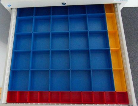 Einsatzboxen Set für Schubladen 600 x 600 mm, R 24 - 24 – Bild 1