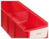 Trennstege aus SAN schmal für Regalbox, transparent