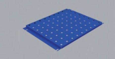 Metall-Lochplatte klein, 295x382 mm