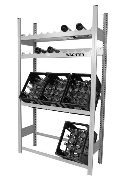 Getränkekisten- und Weinflaschen Regal mit je 2 Ebenen (Grundregal) – Bild 1