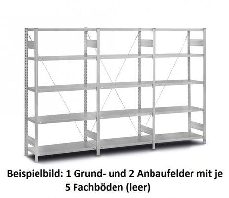 Edelstahl- Fachbodenregal (Grundregal), 2.000 x 1.060 x 435 mm – Bild 3