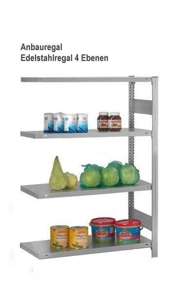 Edelstahl Steckregal (Anbauregal), 1.750 x 1.010 x 835 mm – Bild 1