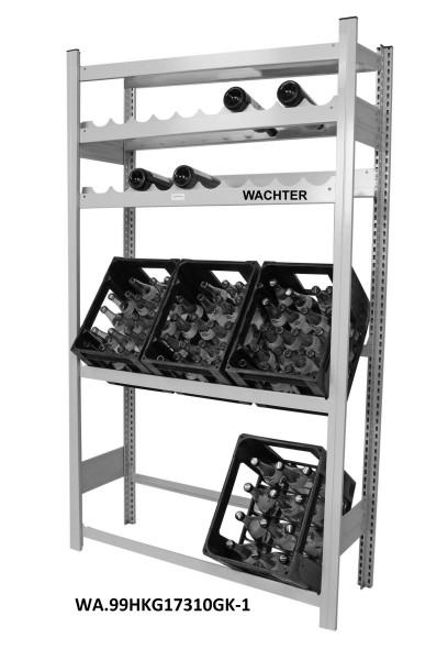Getränkekisten- und Weinflaschen Regal mit 1 Fachboden – Bild 1