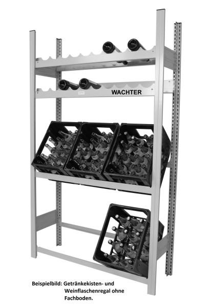 Getränkekisten- und Weinflaschen Regal mit 1 Fachboden – Bild 2