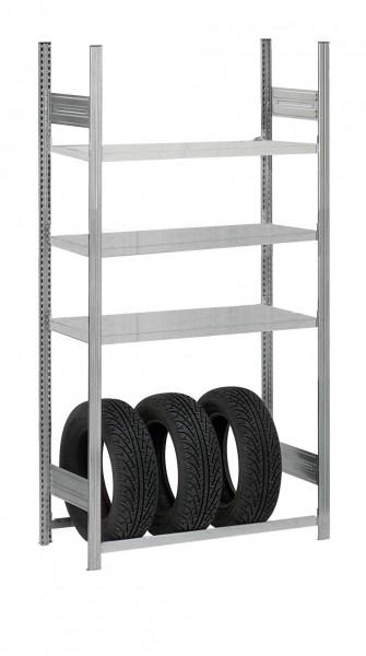 Reifenregal mit 3 Fachböden, HxBxT: 2000/1000/400 mm – Bild 1