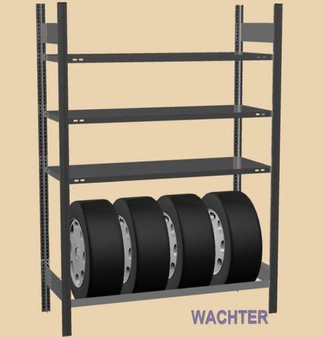 Reifenregal mit 3 Fachböden, HxBxT: 2000/1000/400 mm – Bild 2