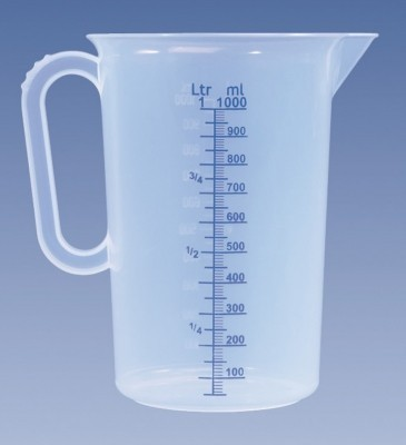 Messkanne 1000 ml, PP, transparent