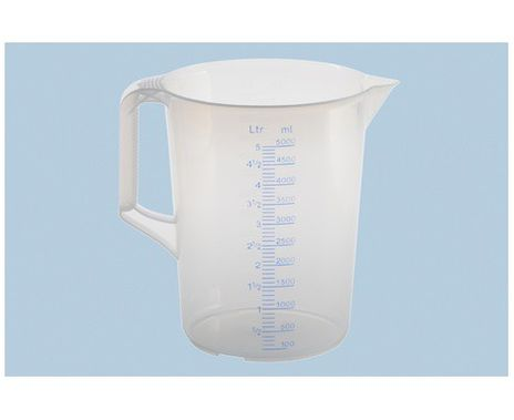 Messkanne 5000 ml, PP, transparent – Bild 1