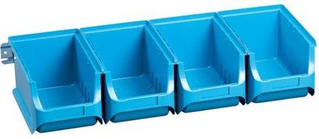 Sichtboxen-Set, 4-tlg. ProfiPlus Set 3/4, blau, PP, TÜV/GS