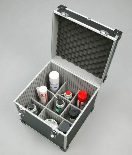 Gerätekiste AluPlus ToolBox 14, schwarz mit flexiblen Trennelementen – Bild 1