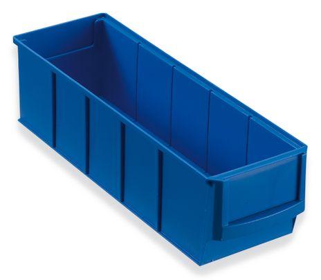 Regalbox Grip 300S, Industriebox, blau, 16 Stück – Bild 1