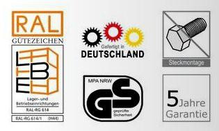 Fachbodenregal AntiBac mit 5 Fachboeden, H/B/T: 2000/1000/500 mm – Bild 4