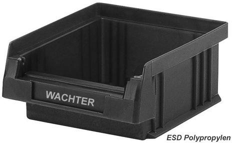 ESD Sichtlagerkasten PLKL 5, leitfähig, Einzelbox