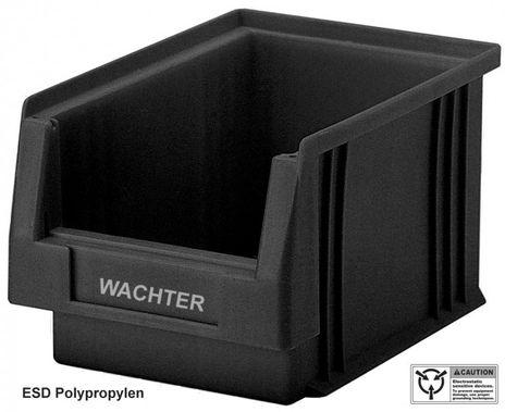 ESD Sichtlagerkasten PLKL 3, leitfähige Einzelbox