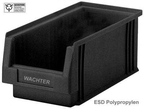 ESD Sichtlagerkasten PLKL 3a, leitfähige Einzelbox