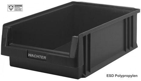 ESD Sichtlagerkasten PLKL 1c, leitfähig, Einzelbox