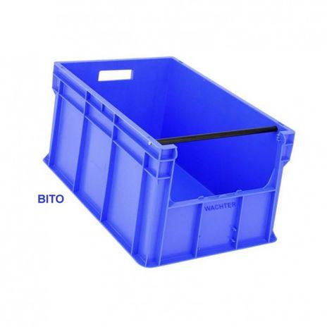 Bito-Eurostapelbehälter mit Entnahmeöffnung, 600 mmx400 mmx315 mm – Bild 1