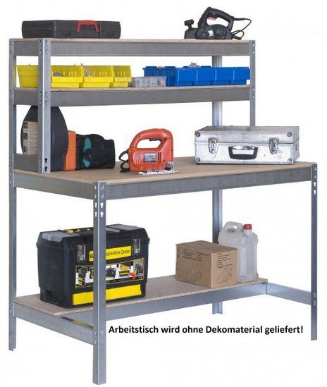 Arbeitstisch mit Aufbau 1200 mm breit
