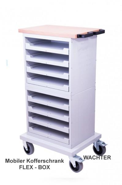 Mobiler Kofferschrank für Kleinteilekoffer, leer – Bild 1