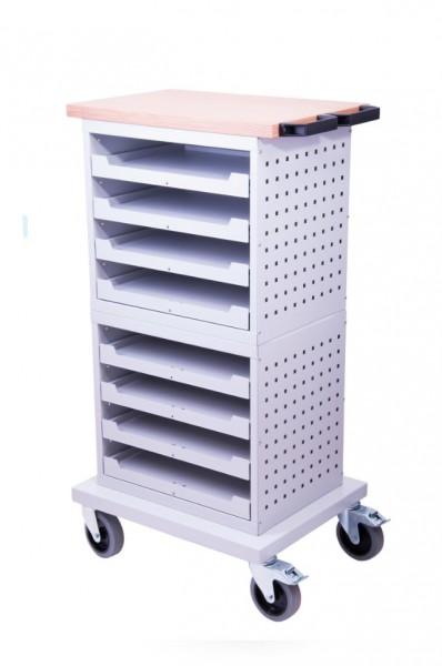 Mobiler Kofferschrank für Kleinteilekoffer mit Lochwand – Bild 1