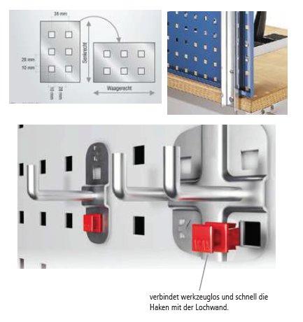 2 Werkbankhalterungen für 1 Lochplatte – Bild 3