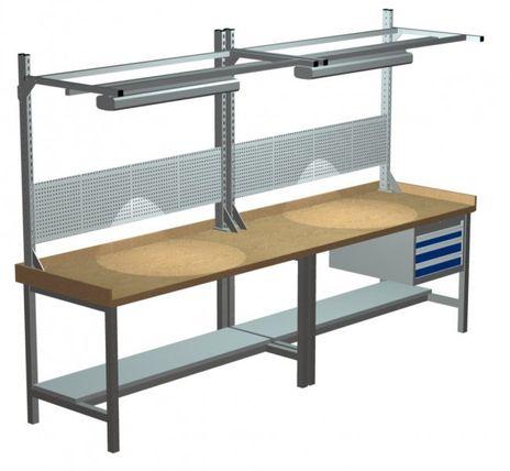 Kastenwerkbank mit Multiwand - Aufbau Breite 3000 mm, komplett – Bild 1