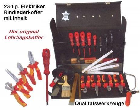 Elektriker Werkzeugkoffer aus Rindleder – Bild 1