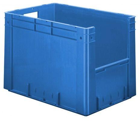 Kunststoff-Sichtlagerkasten im Euro-Maß, Serie VTK 600/420-4, 2 Stück – Bild 1