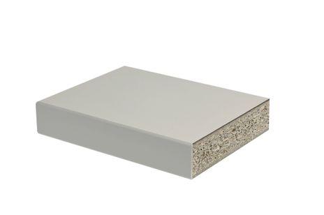 Melaminbeschichtete Spankernplatte 1500x750x40 mm mit Plattenwinkel