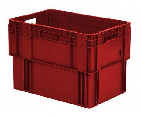 Drehstapelkasten Serie DTK 600/420-0, 2 Stück, Farbe: Rot – Bild 1