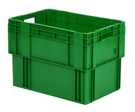 Drehstapelkasten Serie DTK 600/420-0, 2 Stück, Farbe: Grün – Bild 1