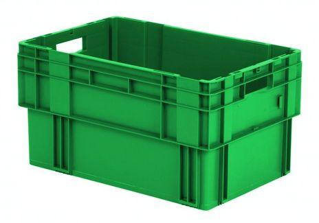 Drehstapelkasten Serie DTK 600/320-0, 2 Stück, Farbe: Grün – Bild 1