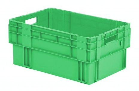 Drehstapelkasten Serie DTK 600/270-0, 2 Stück, Farbe: Grün – Bild 1