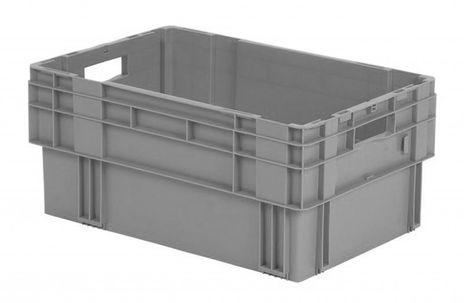 Drehstapelkasten Serie DTK 600/270-0, 2 Stück, Farbe: Grau – Bild 1