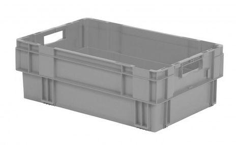Drehstapelkasten Serie DTK 600/210-0, 2 Stück, Farbe: Grau – Bild 1