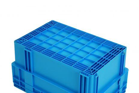 Drehstapelkasten Serie DTK 600/210-0, 2 Stück, Farbe: Grau – Bild 2