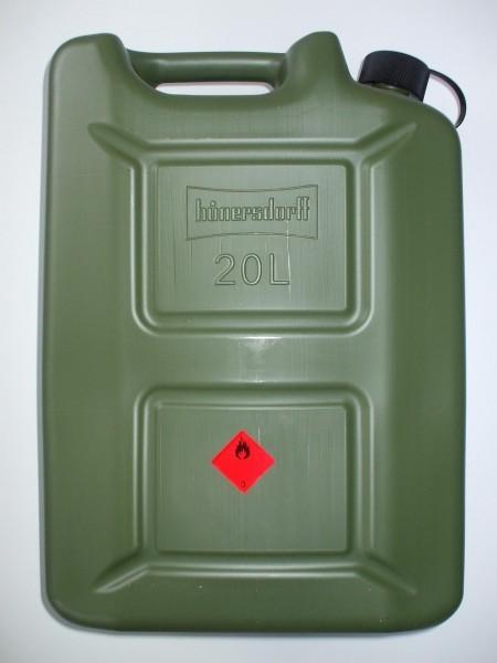 "Transport Kraftstoff Kanister ""PROFI"" (UN) 20 L, oliv, mit Auslaufrohr – Bild 2"