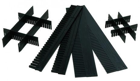 Unterteiler für Tranport-Stapelkästen TRK 120-5, 10 Stück, Farbe: Schwarz