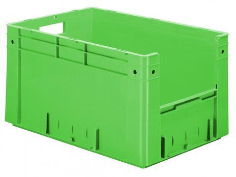 Kunststoff-Sichtlagerkasten im Euro-Maß, Serie VTK 600/320-4, 2 Stück – Bild 4