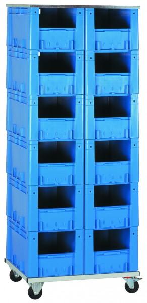 Schwerlast-Transport-Stapelkasten-Regal VTR 12/R 600, 1 Stück, Farbe: Blau