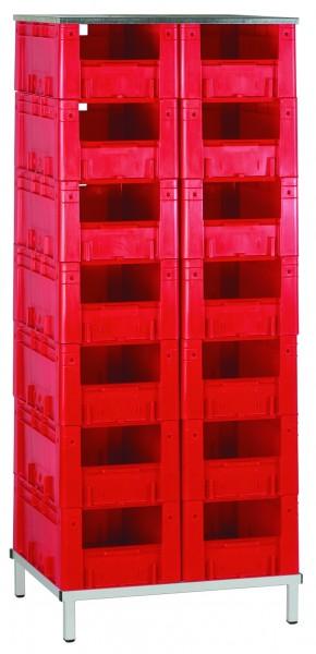 Schwerlast-Transport-Stapelkasten-Regal VTR 14/600, 1 Stück, Farbe: Rot