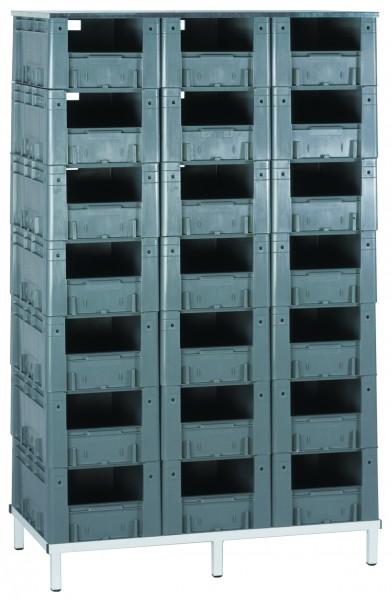 Schwerlast-Transport-Stapelkasten-Regal VTR 21/600, 1 Stück, Farbe: Grau