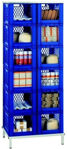 Transport-Stapelkasten-Regal TR 12-1, 1 Stück, Farbe: Blau