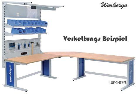 Workergo Grundtisch mit elektrischem Hubmotor, C-Fuß – Bild 6